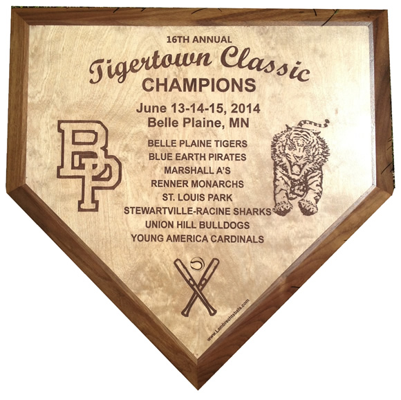 2014 Tigertown Classic home plate trophy