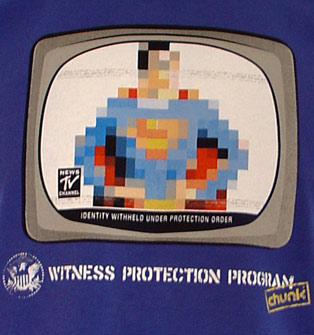 Super M, no that's to obvious, S Man Witness Protection Program